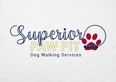 Superior Paw Fit Dog Walking Services - Birmingham Logo Design Company - C Kinion Design