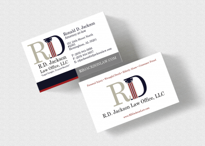 Birmingham Graphic Design Company - C Kinion Design- RD Jackson Law Office Business Card Design
