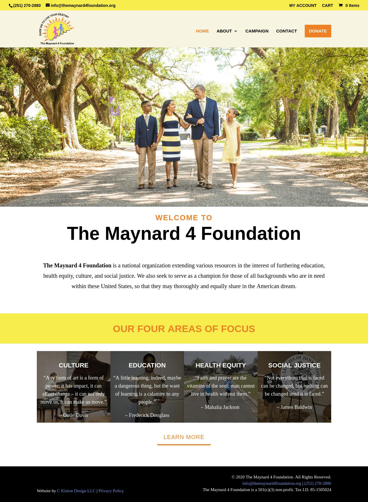 Birmingham-Web-Design-Agency-C-Kinion-Design- The-Maynard-4-Foundation
