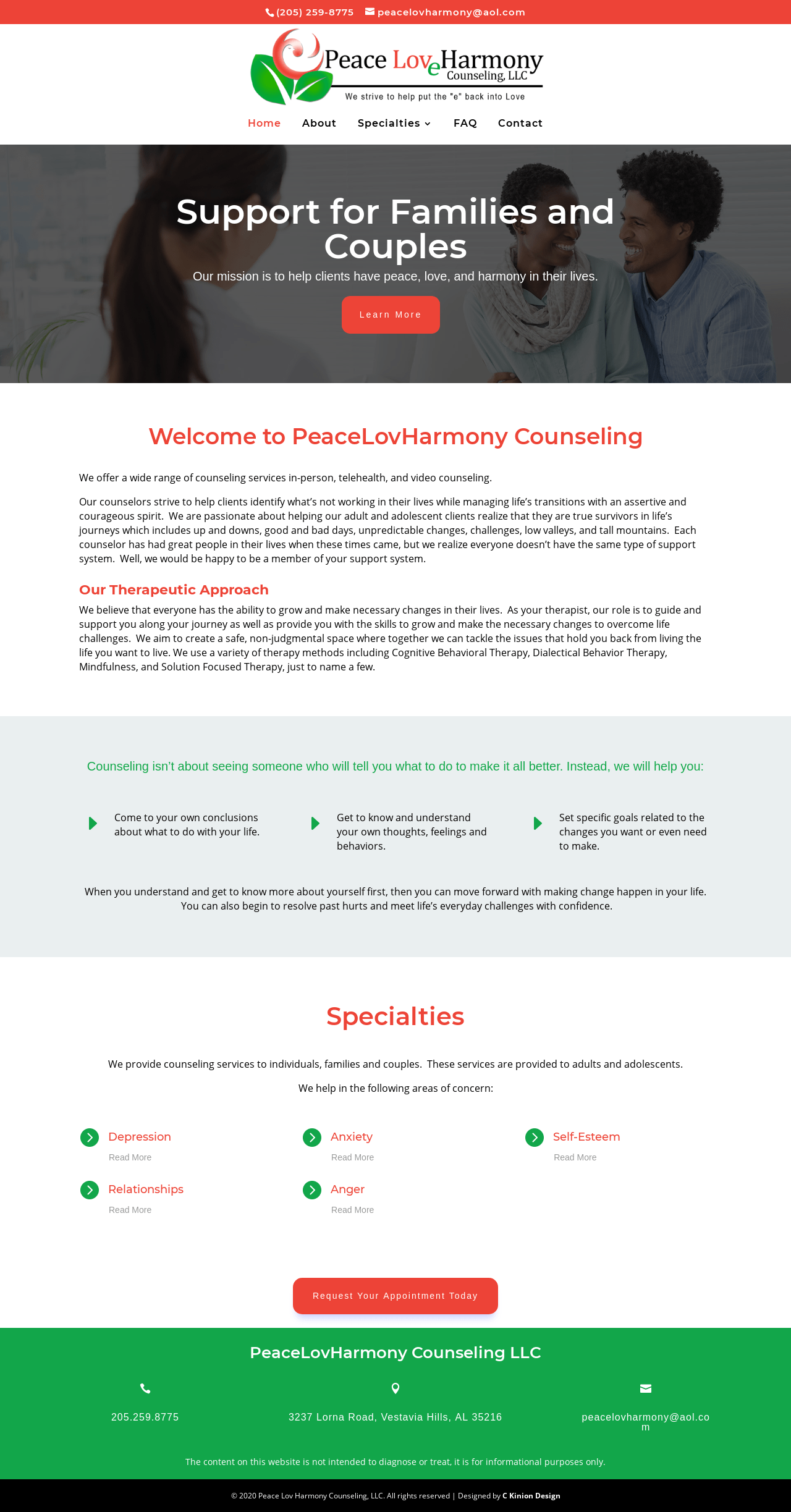 Birmingham-Web-Design-Agency-C-Kinion-Design- PeaceLovHarmony Counseling-Full Page