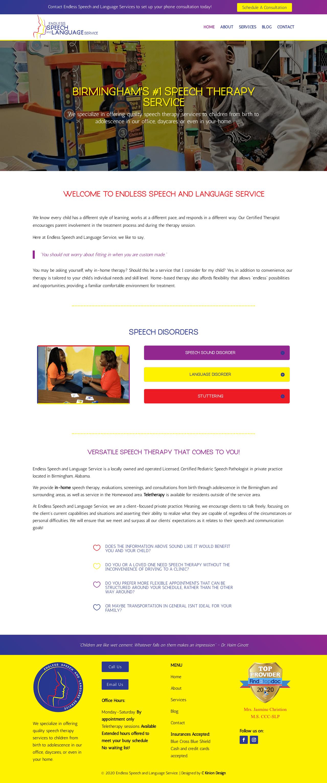 Birmingham-Web-Design-Agency-C-Kinion-Design - Endless - Speech - Language - full page