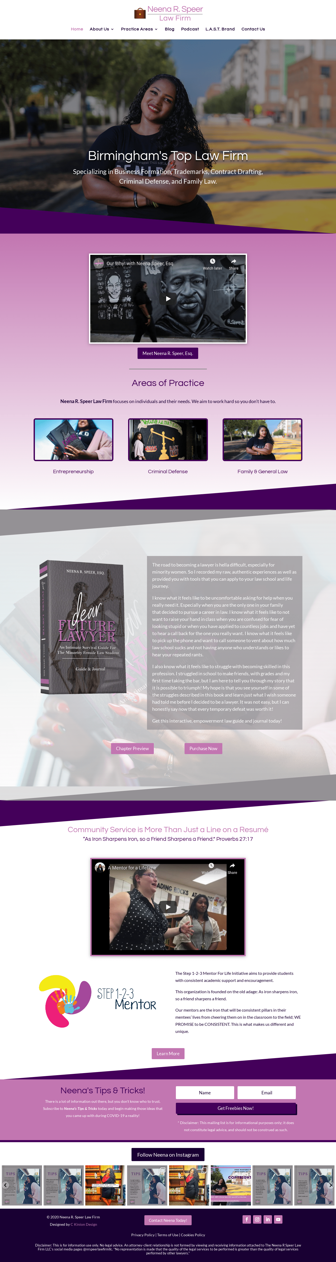 Birmingham-Web-Design-Agency-C-Kinion-Design- Neena R. Speer Law Firm - Full Page