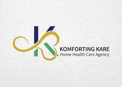 Komforting Kare Home Health Care Agency Logo created by C Kinion Design