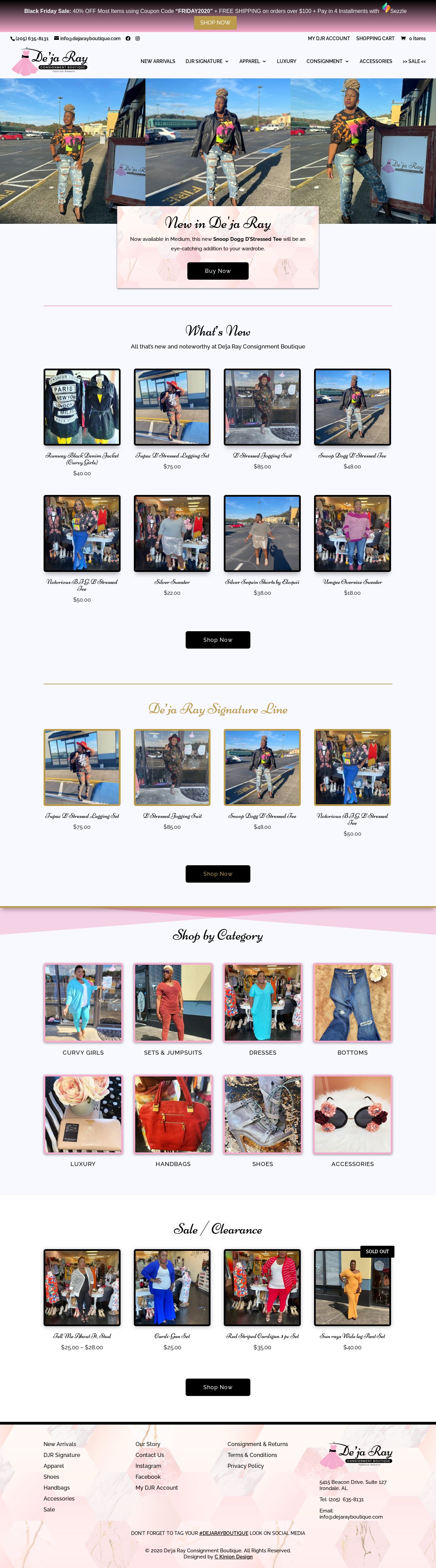 Birmingham-Web-Design-Agency-C-Kinion-Design - De'ja-Ray-Consignment-Boutique - full page