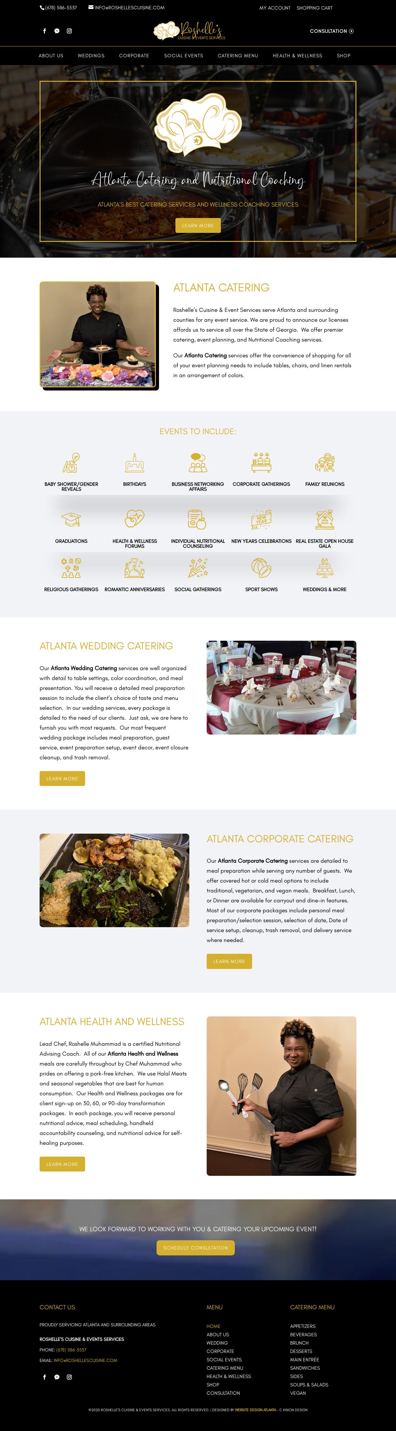 Birmingham-Web-Design-Agency-C-Kinion-Design- Roshelle's Cuisine & Events Servcies - Full page - 12.30.20