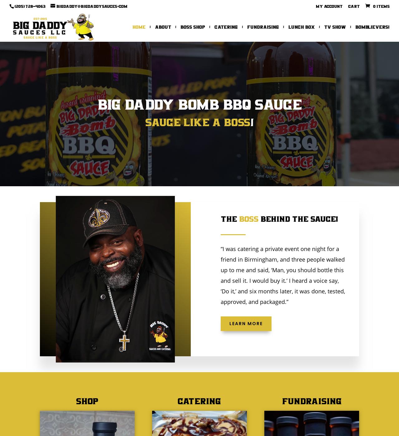 Birmingham Website Design Agency - C Kinion Design - Big Daddy's Sauces - Half Page