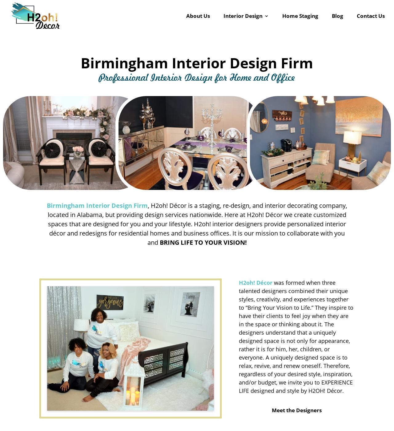 Birmingham Website Design Agency - C Kinion Design - H2oh! Decor - Half Page