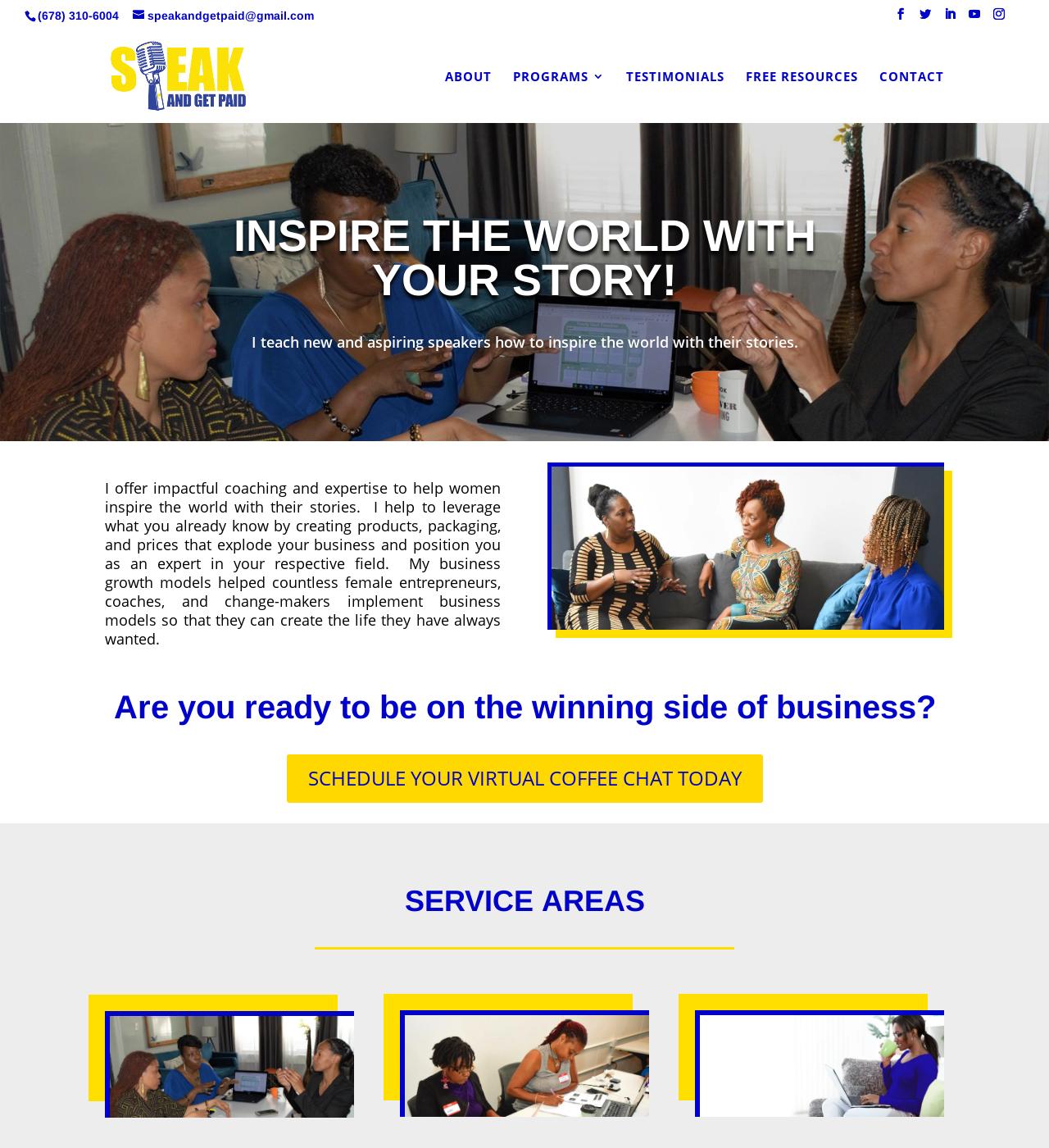 Birmingham Website Design Agency - C Kinion Design - Speak and Get Paid