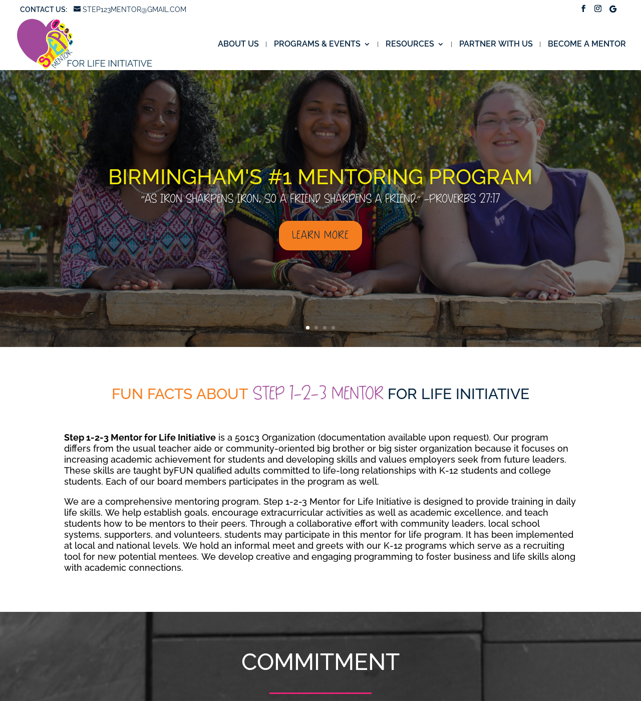 Birmingham-Website-Design-Agency-C-Kinion-Design-Step-1-2-3-Mentor-For-Life-Initiative