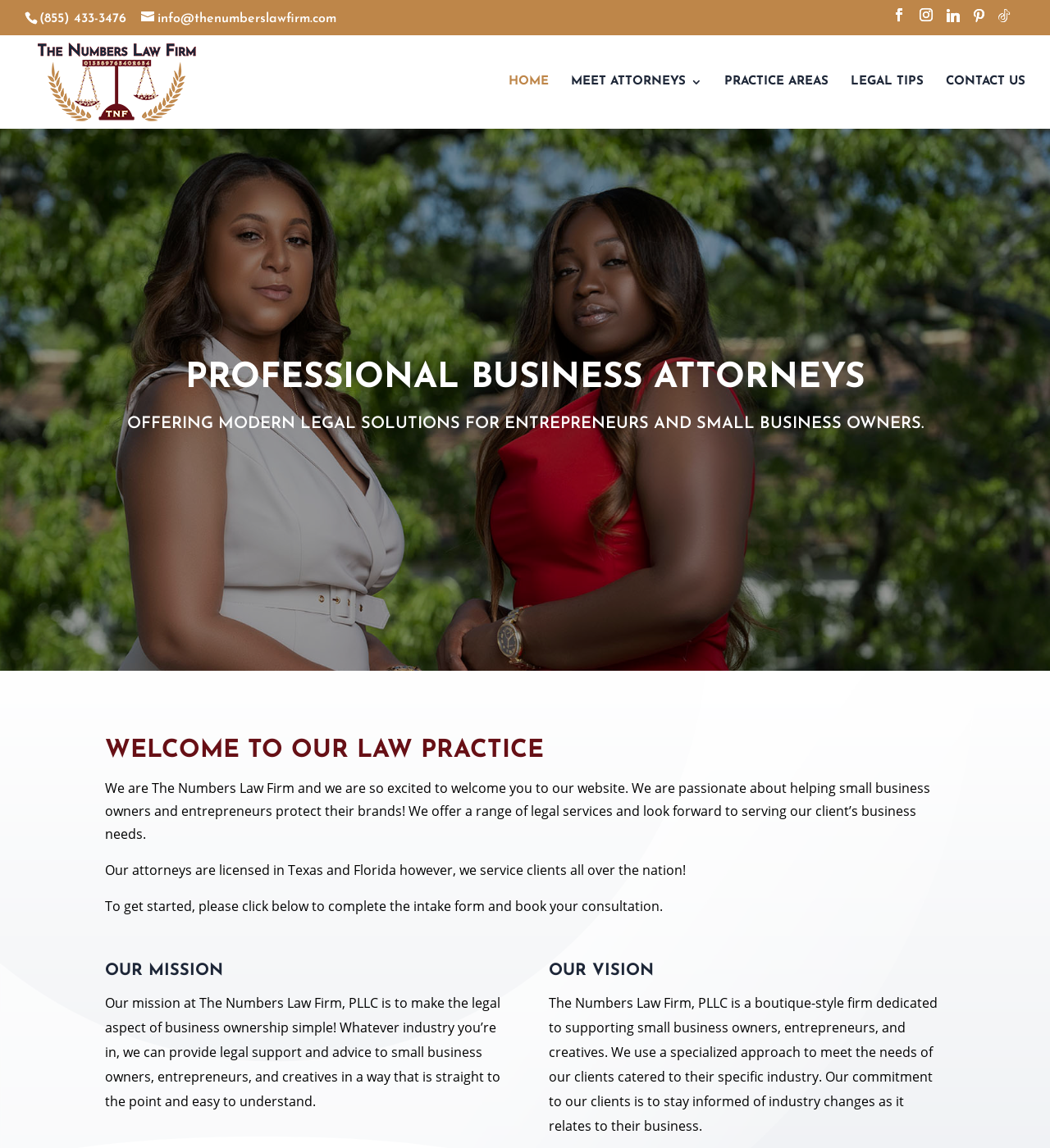 Birmingham Website Design Agency - C Kinion Design - The Numbers Law Firm LLC - Half Page